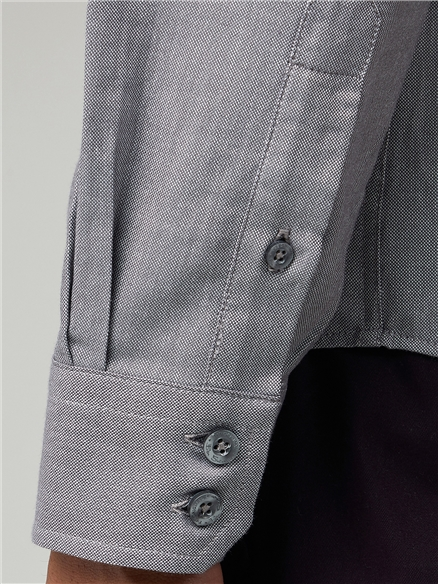 Grey Long Sleeve Oxford Shirt