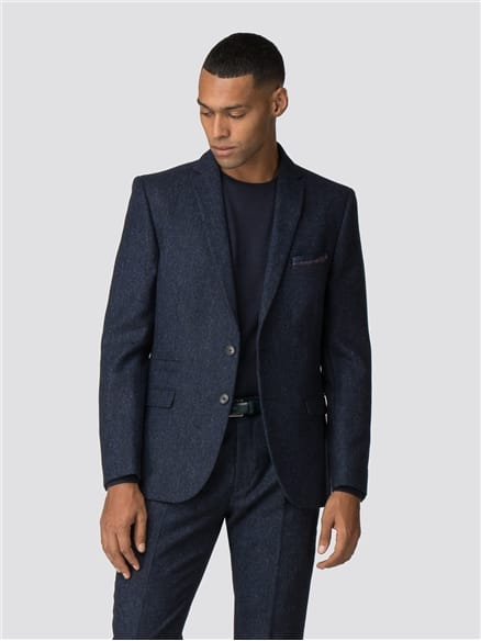 British Black & Blue Tweed Camden Fit Suit