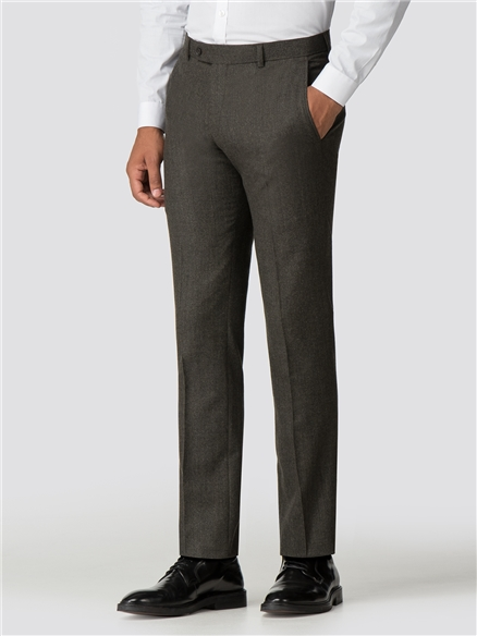 Olive Green Texture Tailored Fit Trouser