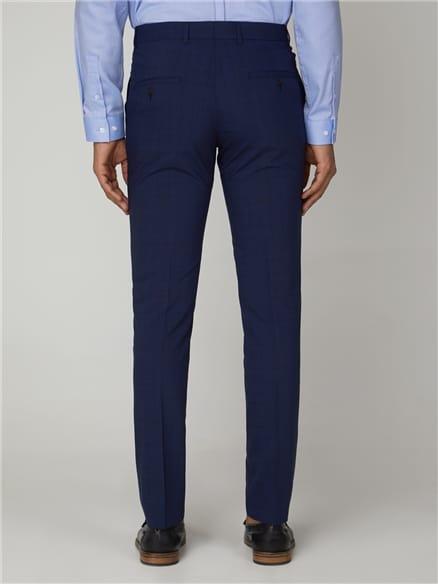 Sapphire Check Stretch Camden Trouser