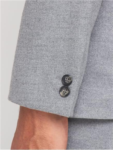 Light Grey Flannel Unstructured Slim Suit