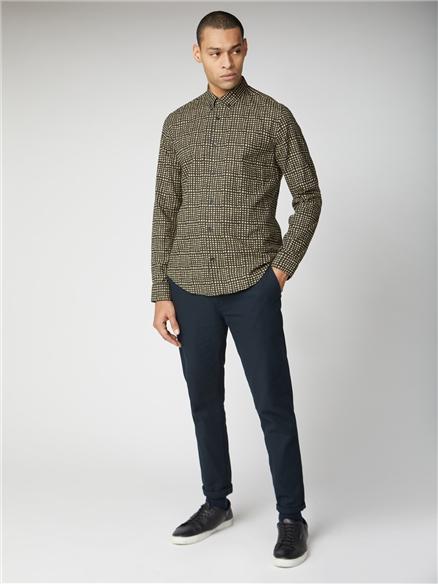Long Sleeve Abstract Check Shirt