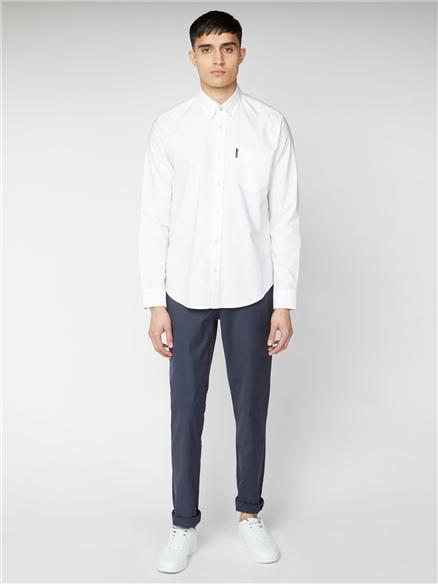 White Signature Button Down Oxford Shirt
