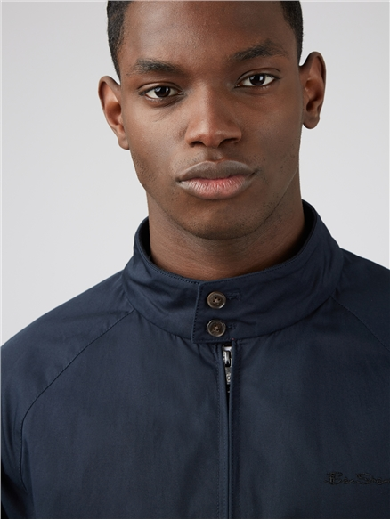 Signature Navy Blue Harrington Jacket
