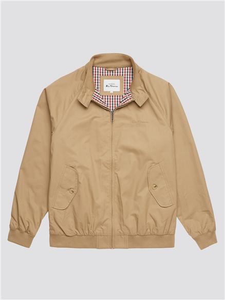 Signature Sand Beige Harrington Jacket