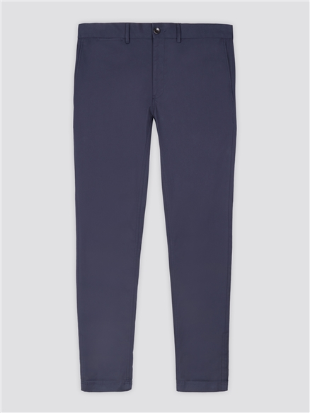 Navy Blue Signature Skinny Fit Stretch Cotton Chinos