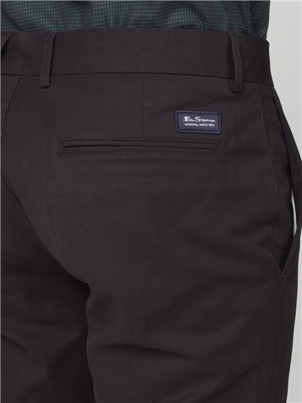 Black Signature Skinny Fit Stretch Cotton Chinos