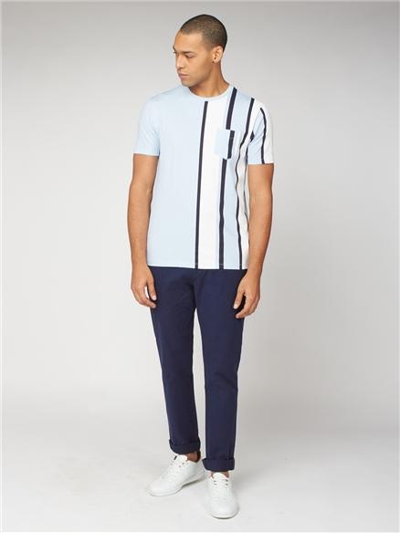 Navy Blue Slim Stretch Cotton Chinos