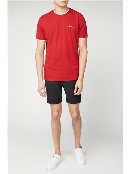 Black Cotton Chino Shorts