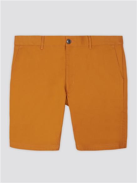Gold Cotton Chino Shorts