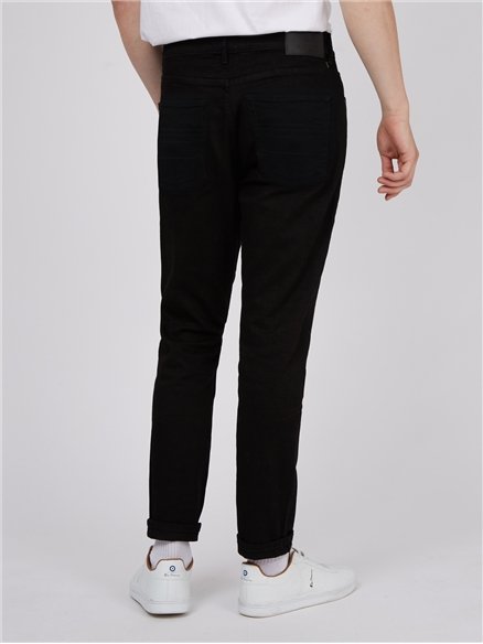 Straight Black Wash Jeans