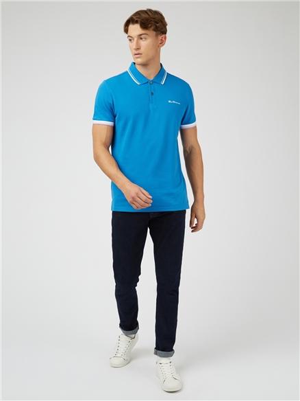Blue Organic Signature Polo Shirt