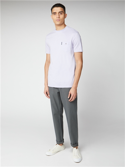 Lilac Signature Tee with Chest Pocket