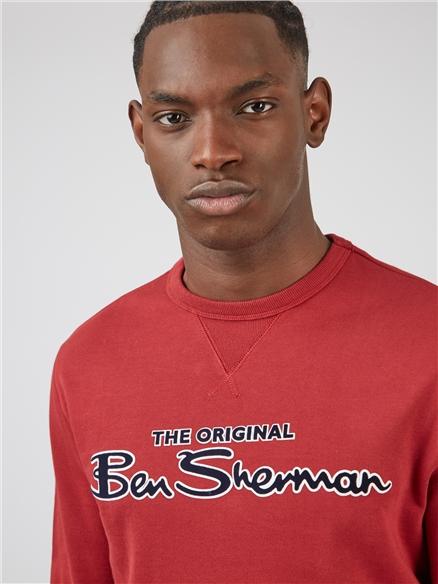 Ben Sherman Red Logo Sweatshirt