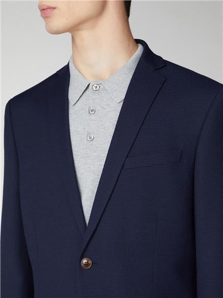 Deep Blue Structure Slim Fit Suit