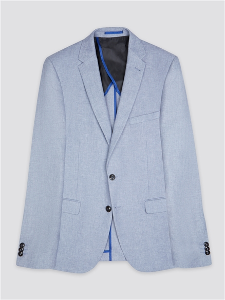 Pale Blue Chambray Camden Fit Suit