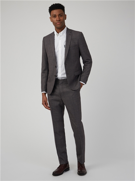 Burnt Red Puppytooth Camden Fit Suit Trouser