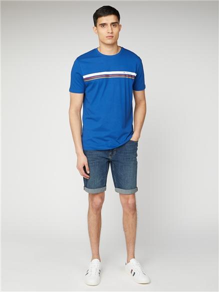 Men's Blue Sport Stripe Tee