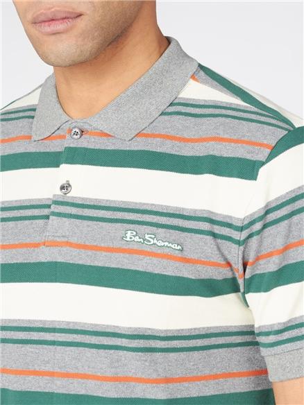 Block Stripe Polo Shirt