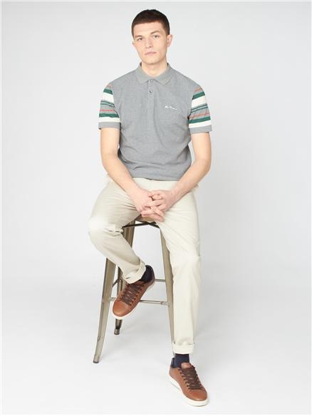 Steel Sleeve Stripe Polo