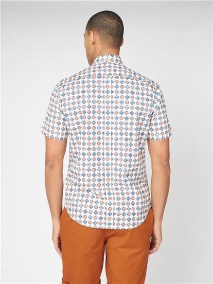 Distressed Retro Print Shirt