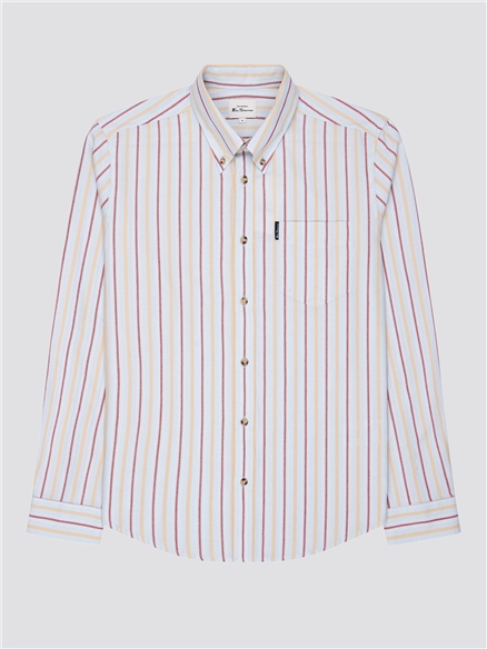 Laundered Oxford Striped Shirt