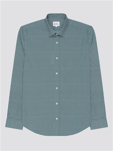 Geo Print Cotton Shirt