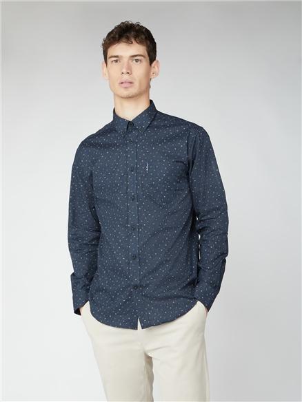 Long Sleeve Scatter Print Shirt