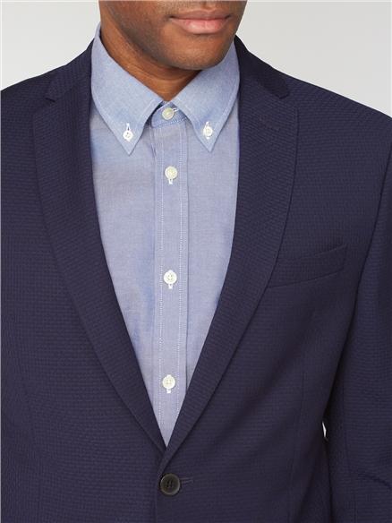 Deep Blue Structure Suit