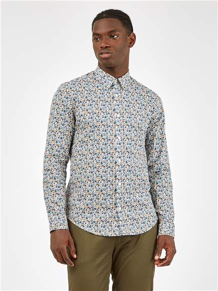 Multicoloured Ivory Floral Long Sleeved Shirt