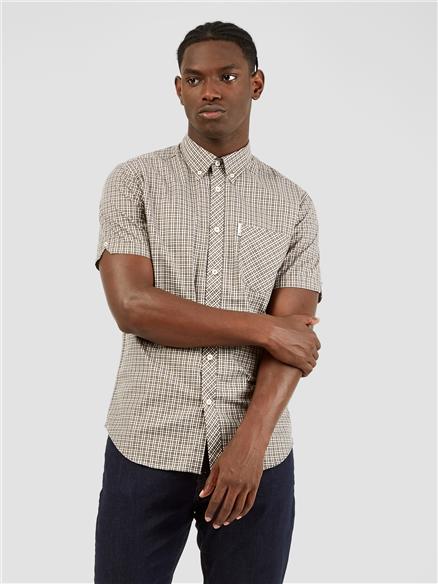 Mini Mod Hemp Checked Short Sleeved Shirt