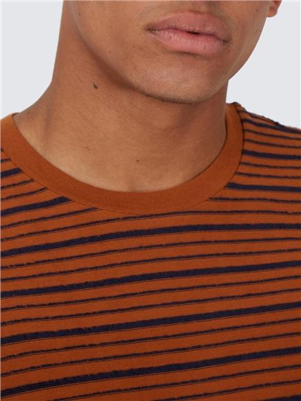 Caramel Textured Stripe T-Shirt