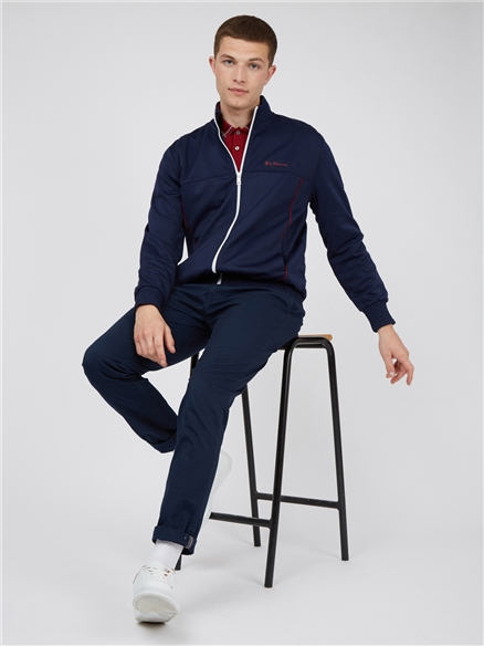 Tricot Funnel Neck Zip Through Track Top
