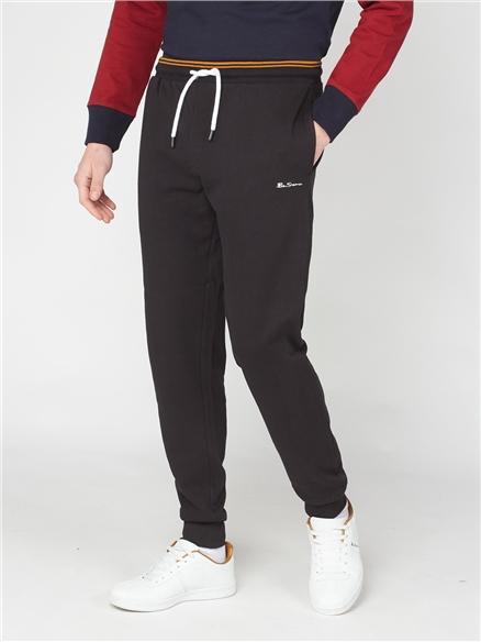 Tipped Waistband Sweatpants - Black