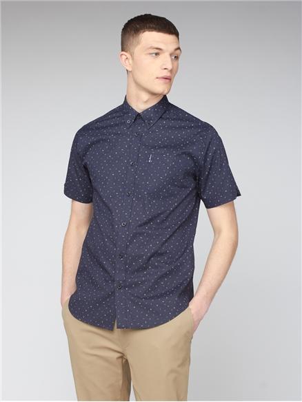 Short Sleeve Scatter Print Shirt