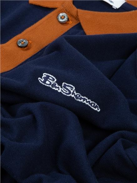 Short Sleeve Colour Block Polo Shirt