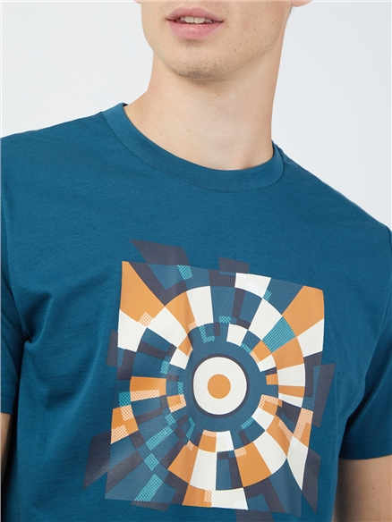 Fractured Target T-Shirt - Blue