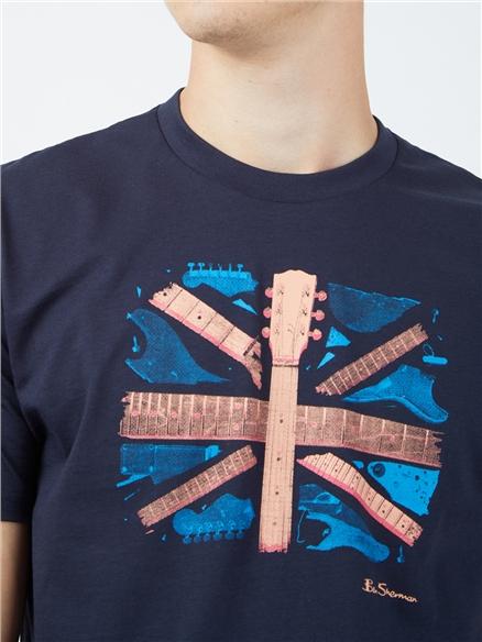 Smashed Guitar Union Jack Graphic Tee