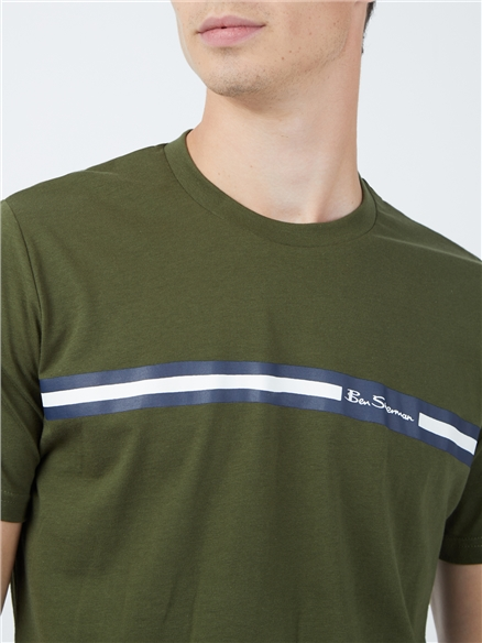 Chest Stripe T-Shirt - Camouflage