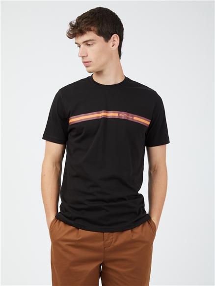 Chest Stripe T-Shirt - Black
