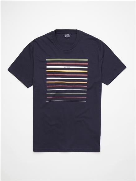 Cropped Stripe T-Shirt