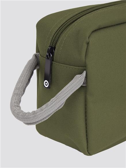 'Lenon' Khaki Green Washbag