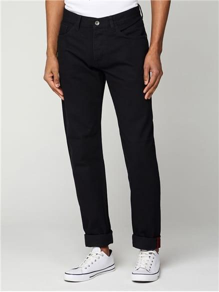 5 Pocket Black Slim Jean