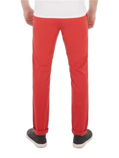 Red Skinny Stretch Chino