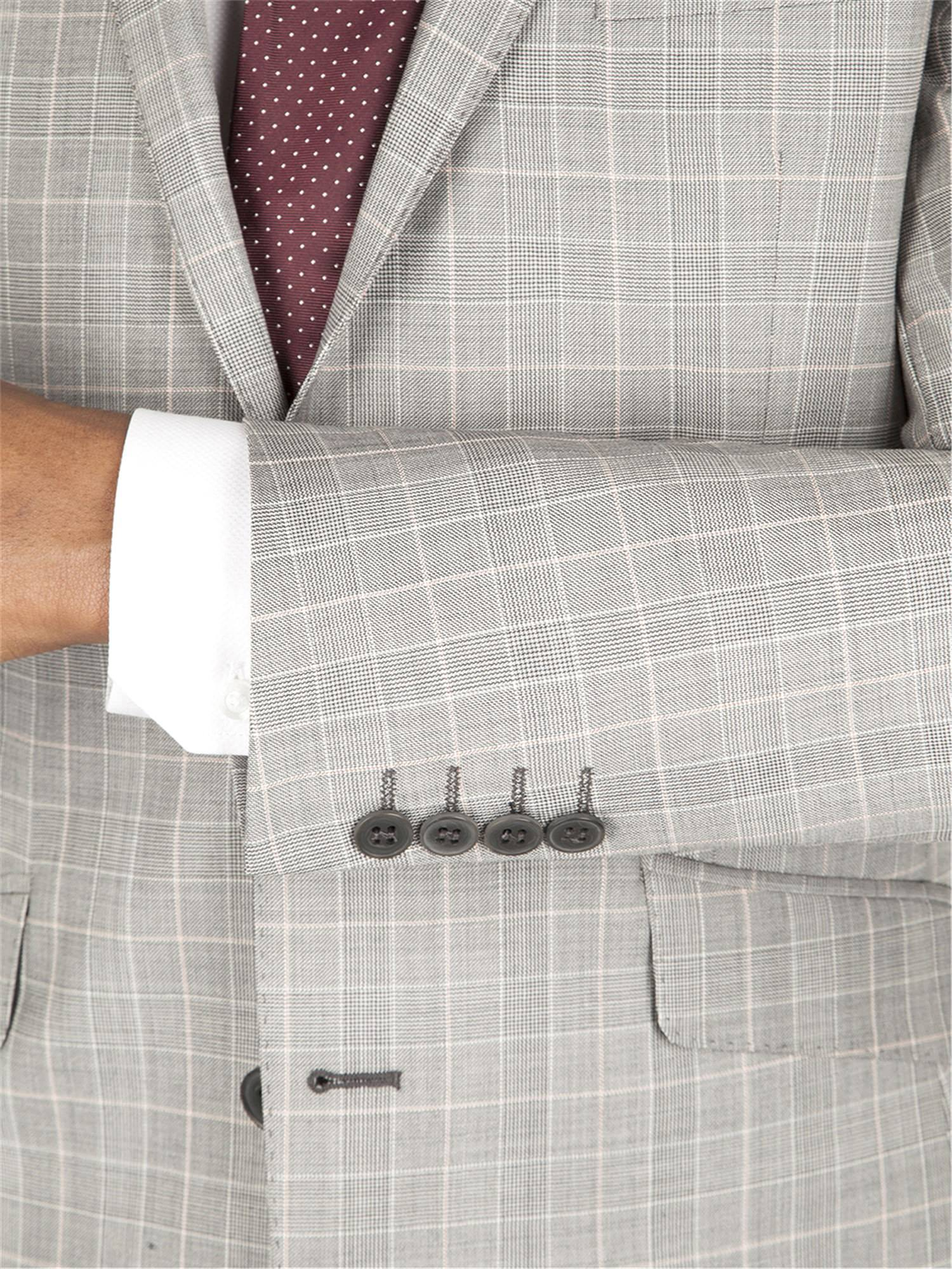 Grey Check Kings Fit Suit
