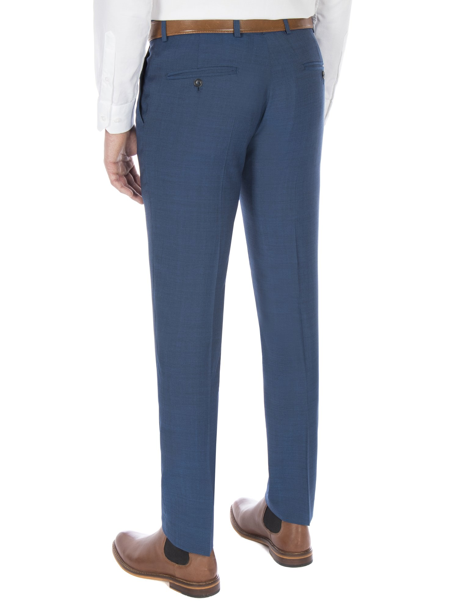 Dark Teal Blue Tonic Camden Trouser