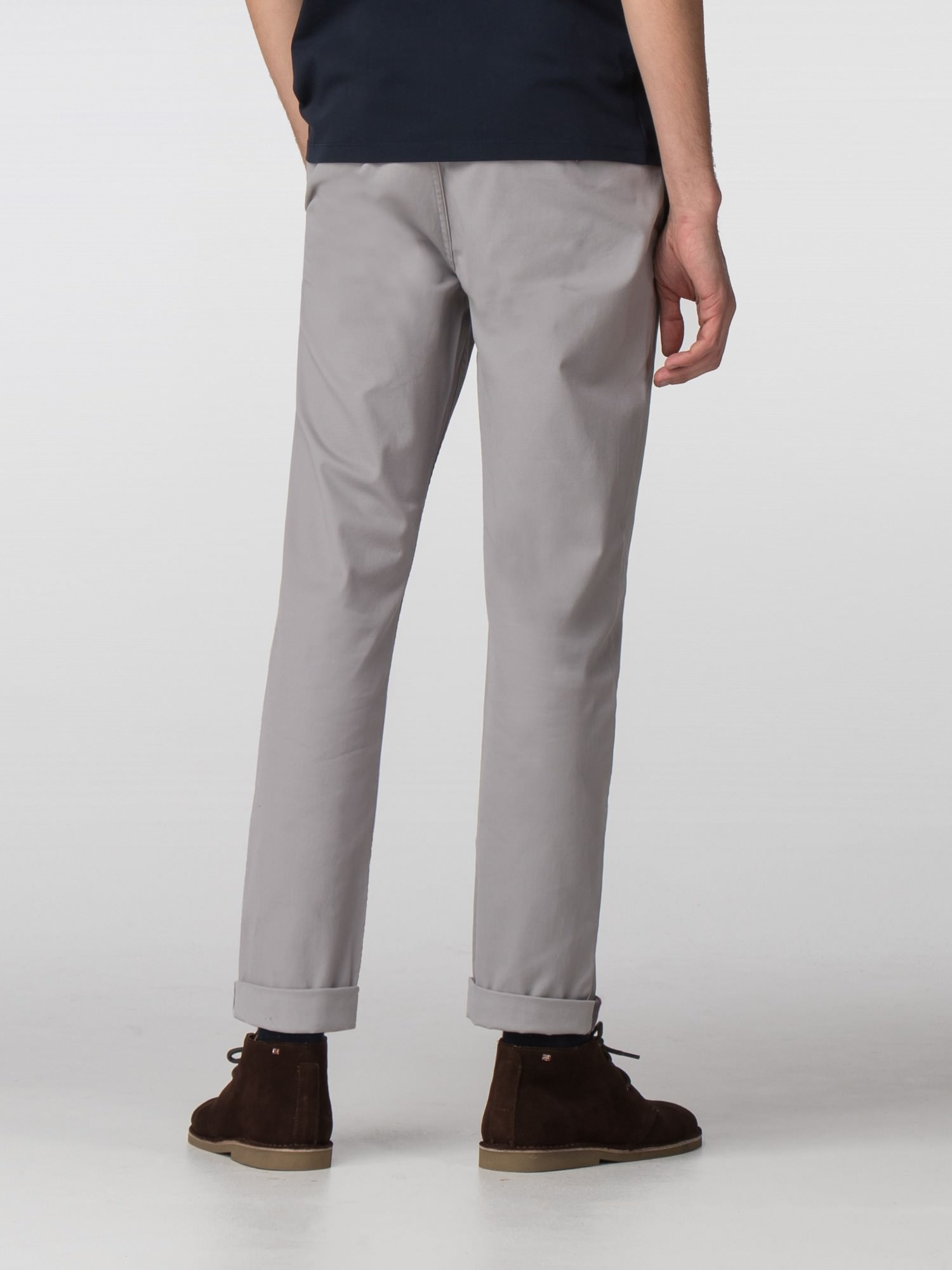 Ash Grey Slim Stretch Chino