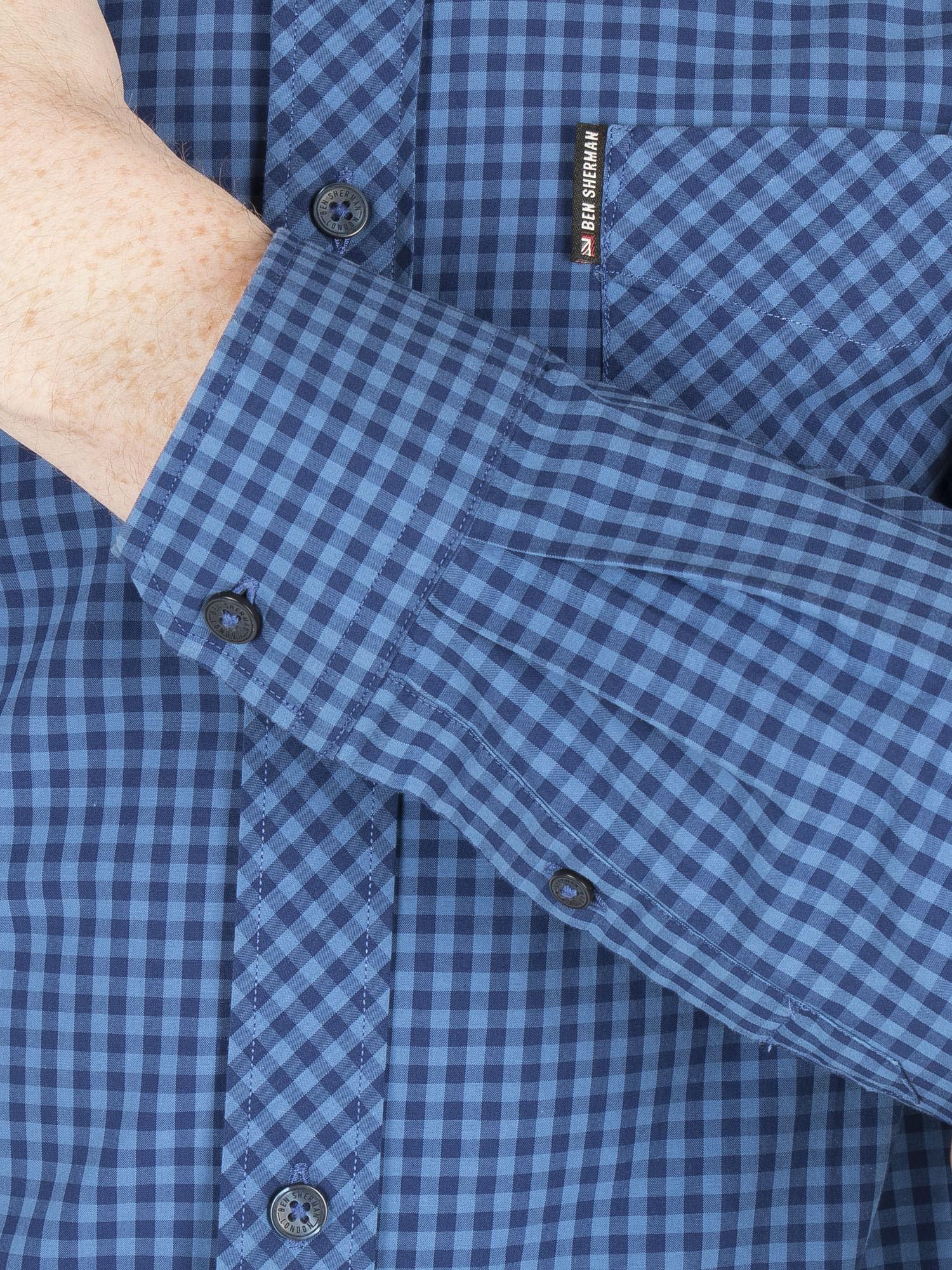 Long Sleeve Gingham Shirt