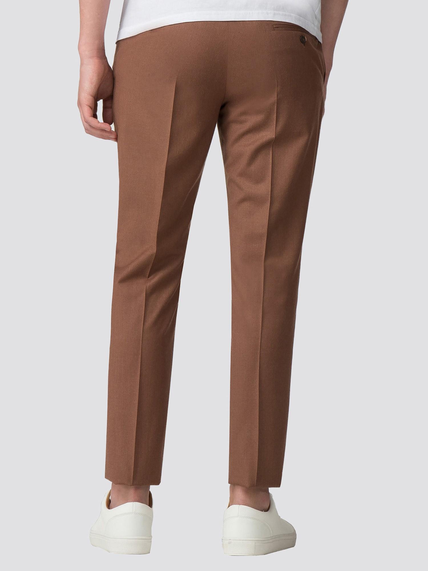 Tan Texture Skinny Fit Trouser