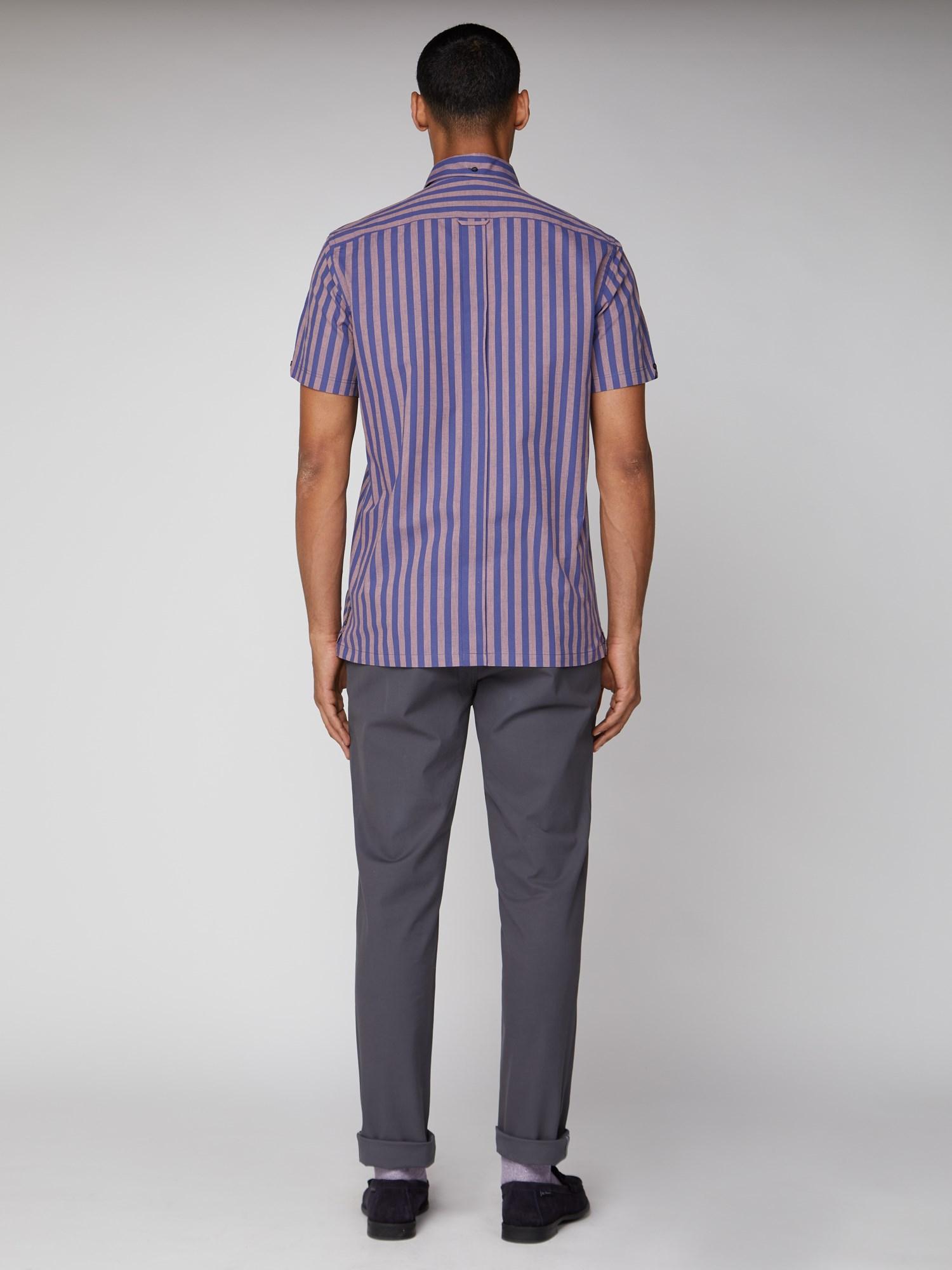 Short Sleeve Slub Stripe Shirt
